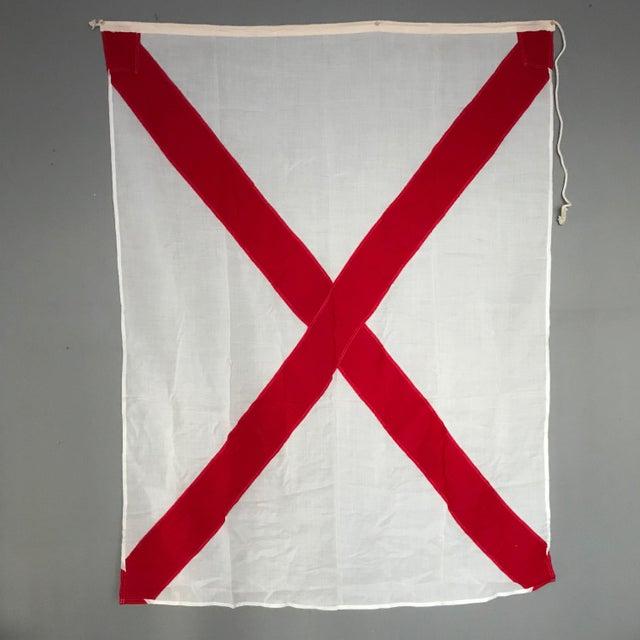 "Vintage ""V"" Nautical Flag - Image 5 of 5"