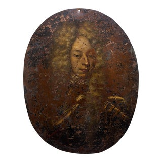 17th Century Portrait Oil Painting of a Nobleman For Sale
