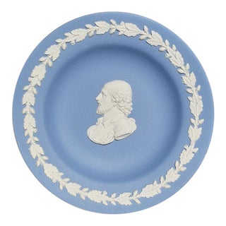 Blue Round Wedgwood Jasperware Dish For Sale