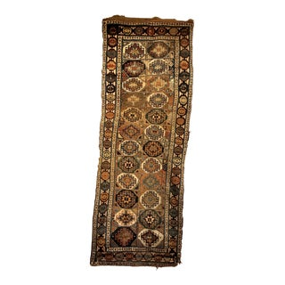 Early 1900s Distressed Antique Kazak Runner Rug - 3′1″ × 8′5″ For Sale