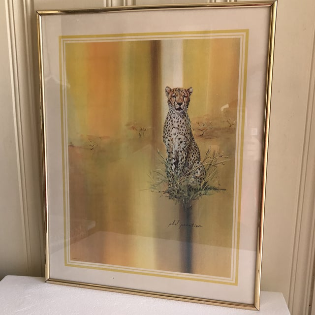 Midcentury 1970s Leopard Cheetah Wall Art For Sale - Image 4 of 7