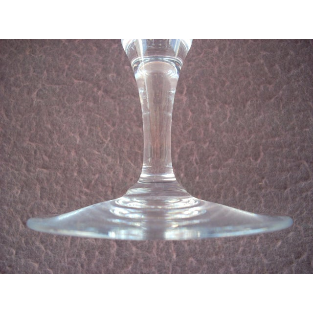 American Classical French Baccarat Crystal Red Wine Stem Glass For Sale - Image 3 of 5