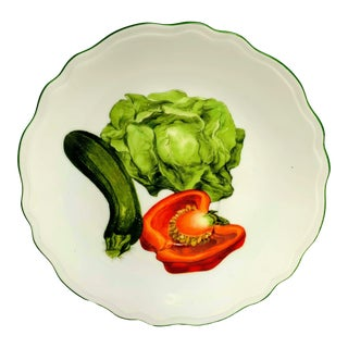 French Vegetables Bread & Butter Plate by Louis Lourioux For Sale