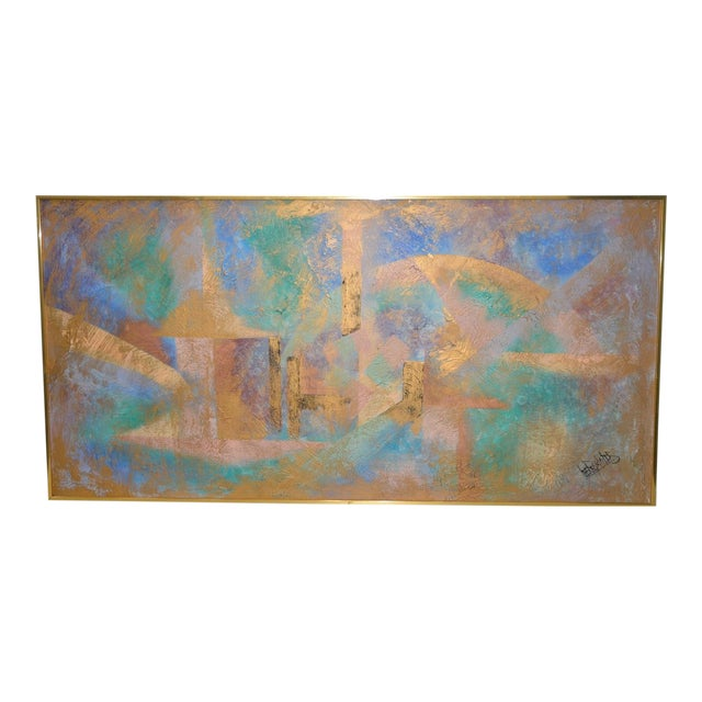 Lee Reynolds Vanguard Studios Mid Century Abstract Oil Painting C.1960s For Sale