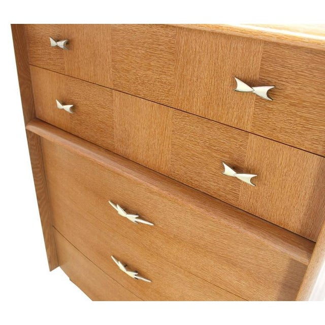 Cerused Oak American Mid-Century Modern High Chest For Sale In New York - Image 6 of 8