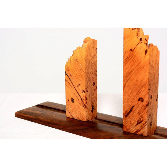 Oil Paint Pair of Burl Wood & Walnut Studio Book Holder For Sale - Image 7 of 9