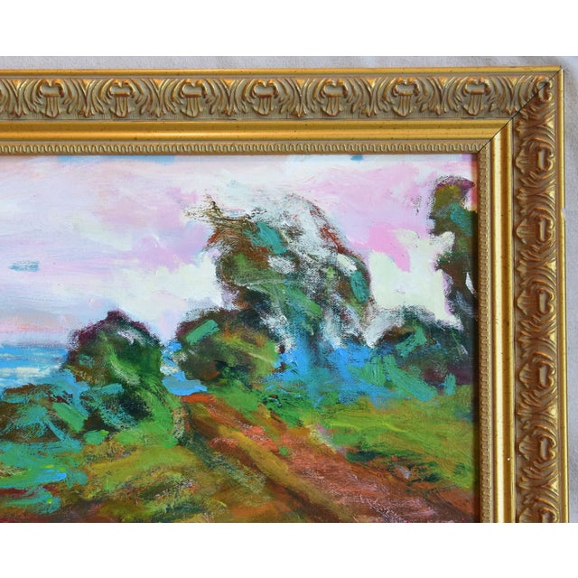 California Santa Barbara Landscape Oil Painting by Juan Guzman For Sale In Los Angeles - Image 6 of 10