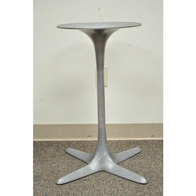 Burke Mid-Century Modern Aluminum Tulip Propeller Dining Table Base For Sale - Image 11 of 12