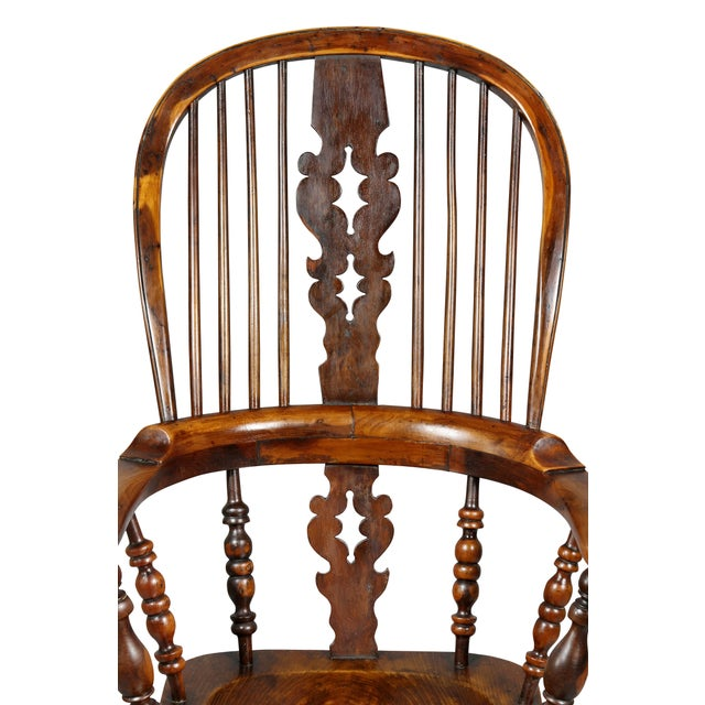 Wood Set of Four Assembled Regency Yewwood Windsor Armchairs For Sale - Image 7 of 13