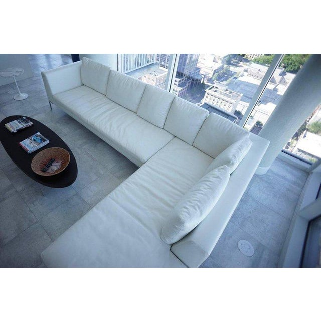 B&B Italia B & B Lucrezia Sectional Sofa in White Leather For Sale - Image 4 of 11