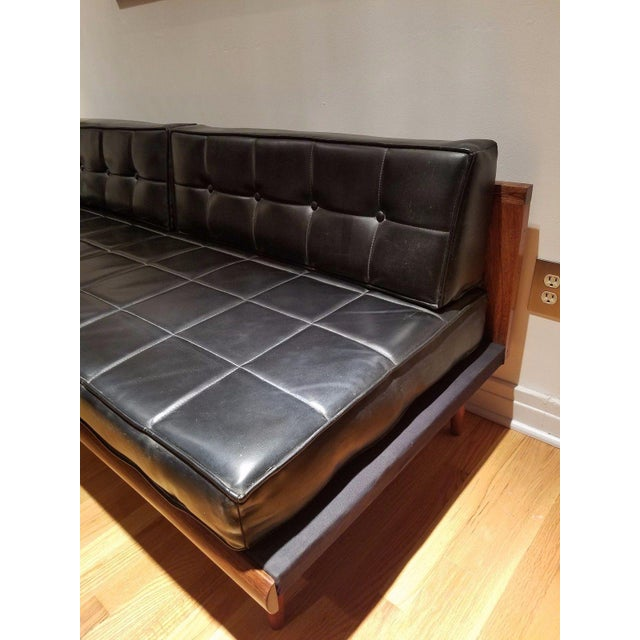 Mid Century Modern Vinyl Daybed / Loveseat - Image 4 of 11