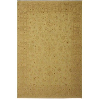 1950's Contemporary Ziegler Sun-Faded Brown Wool Rug -9'1 X 11'9 For Sale