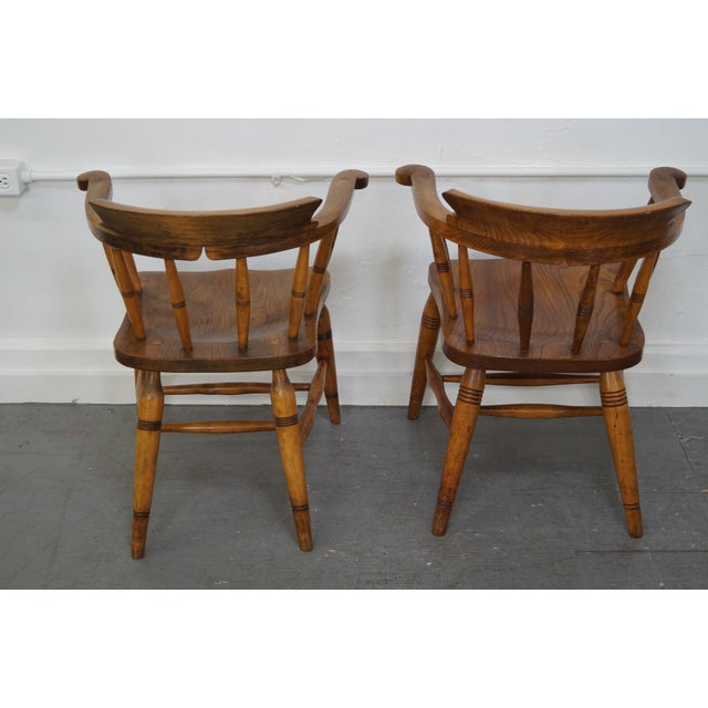 Antique English 19th Century Pub Chairs - Set of 4 For Sale - Image 4 of 10