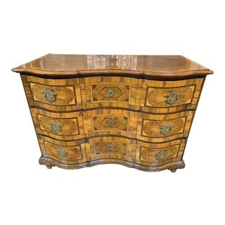 18th Century South German Serpentine and Inlaid Commode For Sale