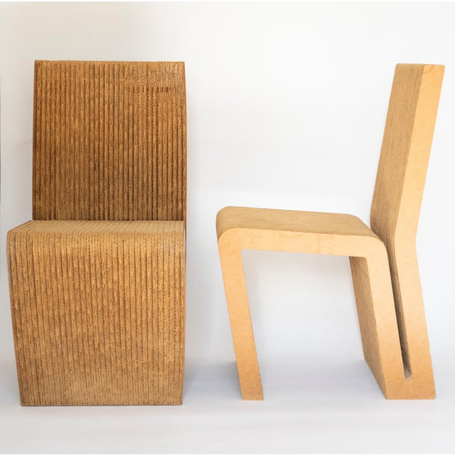 1970s Easy Edges Cardboard Chair by Frank Gehry, Early 1970s Model For Sale - Image 5 of 11