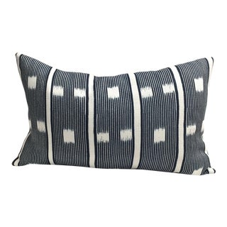 William Yeoward Blue and White Accent Pillow