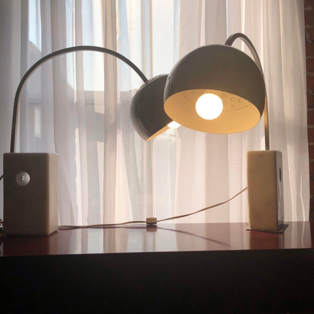 Italian Mid Century Modern Arco Desk Lamps - a Pair For Sale - Image 10 of 12