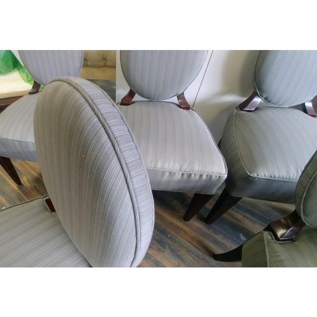 Henredon Furniture Barbara Barry Walnut Oval Back Side Chairs - Set of 6 For Sale - Image 9 of 11