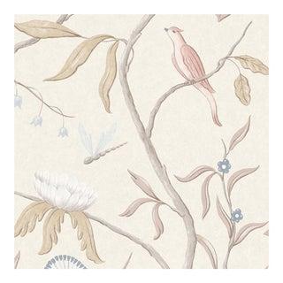 Adam's Eden Mother of Pearl Botanic Style Wallpaper Sample For Sale