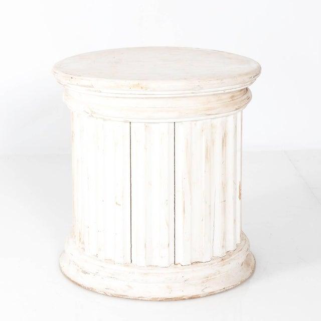 Wood Fluted Column Pedestal For Sale - Image 7 of 10