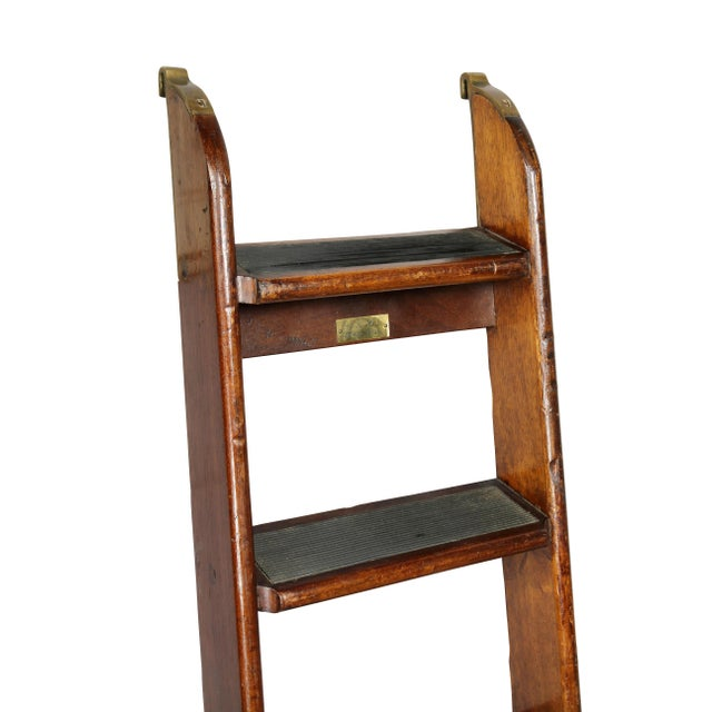 Traditional Edwardian Mahogany Bed Ladder from the R.M.S Queen Mary For Sale - Image 3 of 6