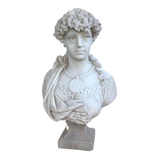 A. Froli 19th Century Marble Bust Allegory of Painting For Sale