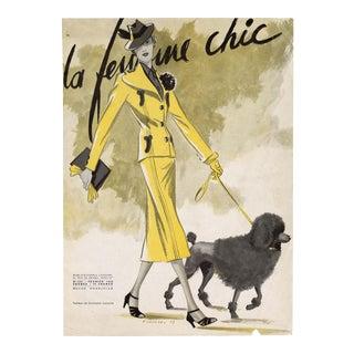 """La Femme Chic, No. 325, February 1938"". Original French Fashion Magazine Cover. Very Rare!! For Sale"