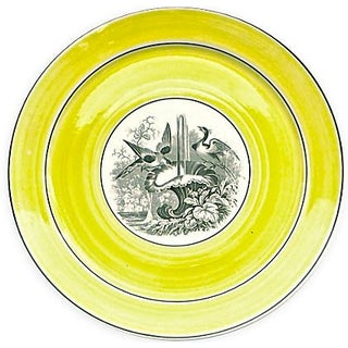 Vintage German Mottahedah Wildlife Bird Plate For Sale