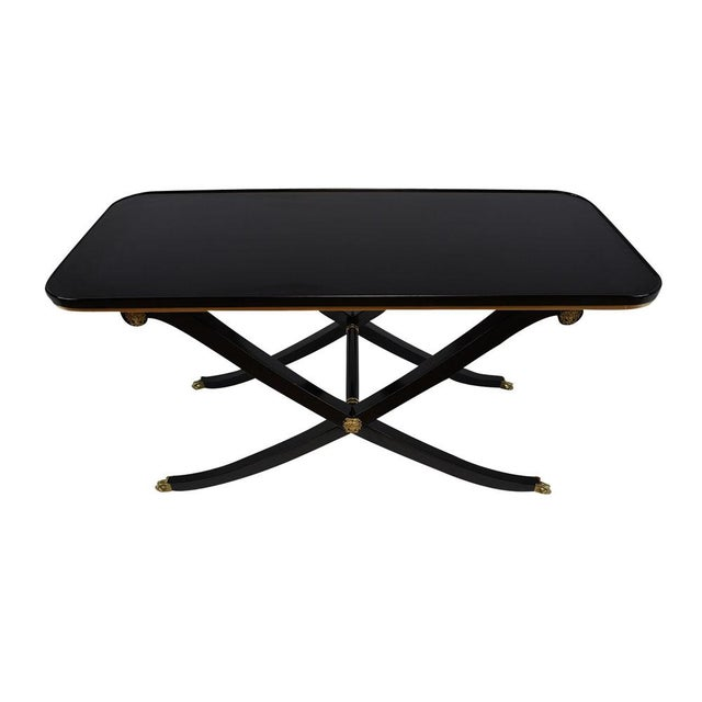 Empire French Empire Style Ebonized Mahogany Coffee Table For Sale - Image 3 of 8