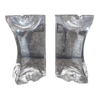 Pair of Lucite Bookends For Sale