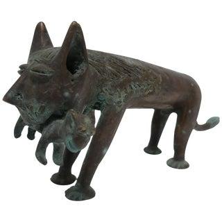 Solid Bronze Cat Sculpture For Sale