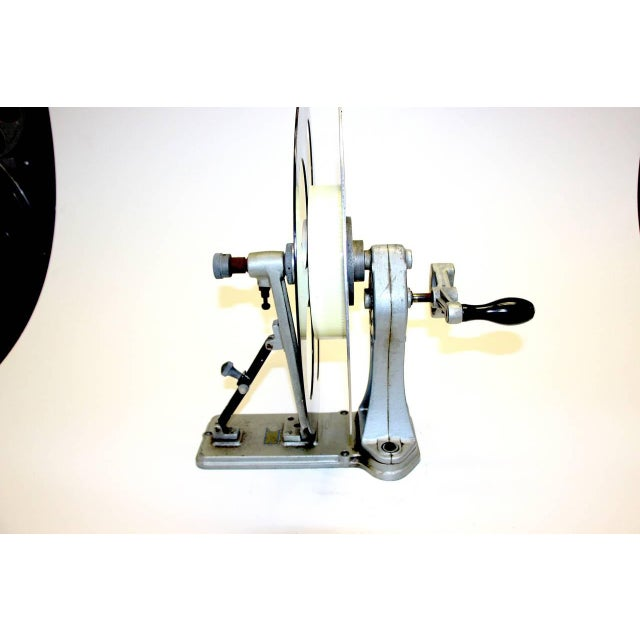 Vintage Motion Picture Film Laboratory Flange Rewinder. Circa 1930s. Display As Sculpture. For Sale In Dallas - Image 6 of 7