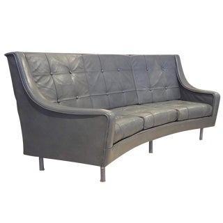 Andre Arbus Curved Sofa in Leather From the Ss France 1961 For Sale