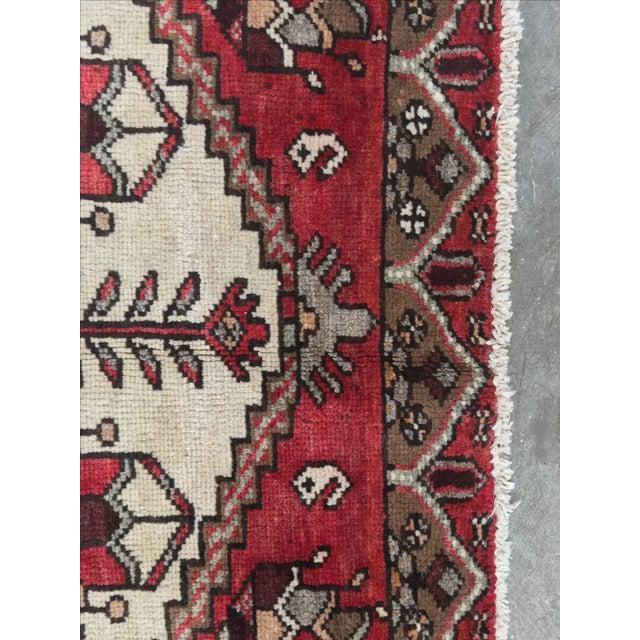 Vintage Hamadan Persian Rug - 3′6″ × 5′4″ - Image 7 of 9