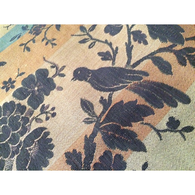 Vintage Tapestry or Table Cloth with Birds - Image 3 of 10