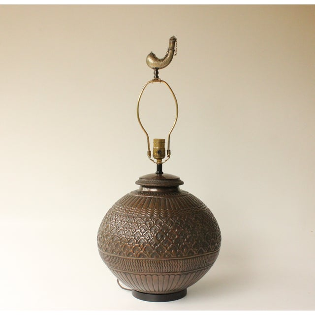 Tribal Repousse Table Lamp - Image 3 of 7