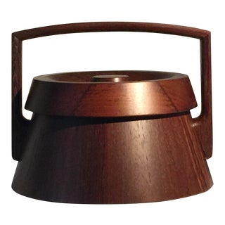 Jens Quistgaard 1960s 'Rare Woods' Wenge Japonisme Ice Bucket For Sale