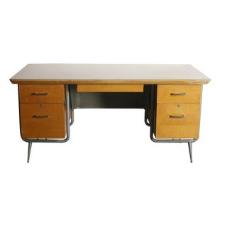 Kem Weber Heywood Wakefield Trimline Office Desk For Sale