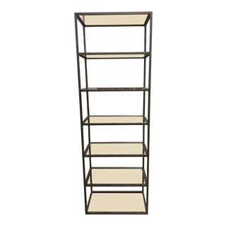 Mitchell Gold & Bob William Fritz Metal + Glass Bookcase For Sale