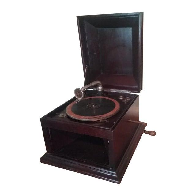 Antique Hand Crank Phonograph - Image 1 of 5
