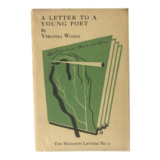 Virginia Woolf a Letter to a Young Poet First Edition Book For Sale