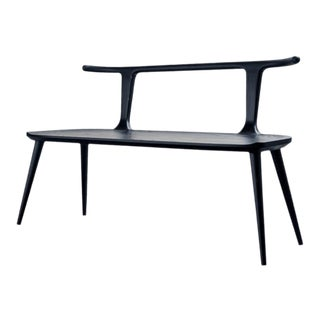 Oxbend Bench - Charcoal Ash For Sale