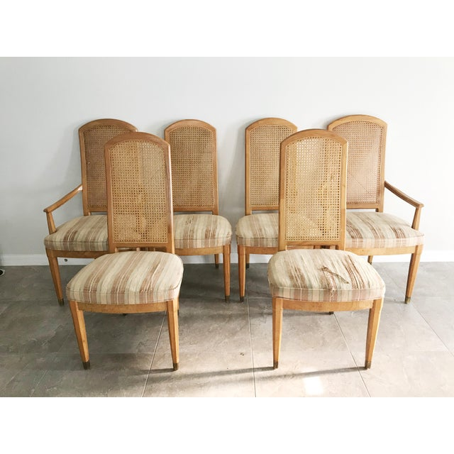 Vintage Henredon Scene Two Dining Chairs - Set of 6 For Sale - Image 10 of 10