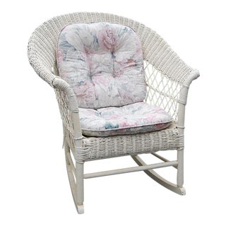 Antique Wicker Rocking Chair For Sale