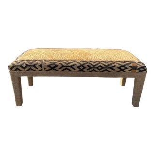 Antique African Cuba Cloth Bench For Sale