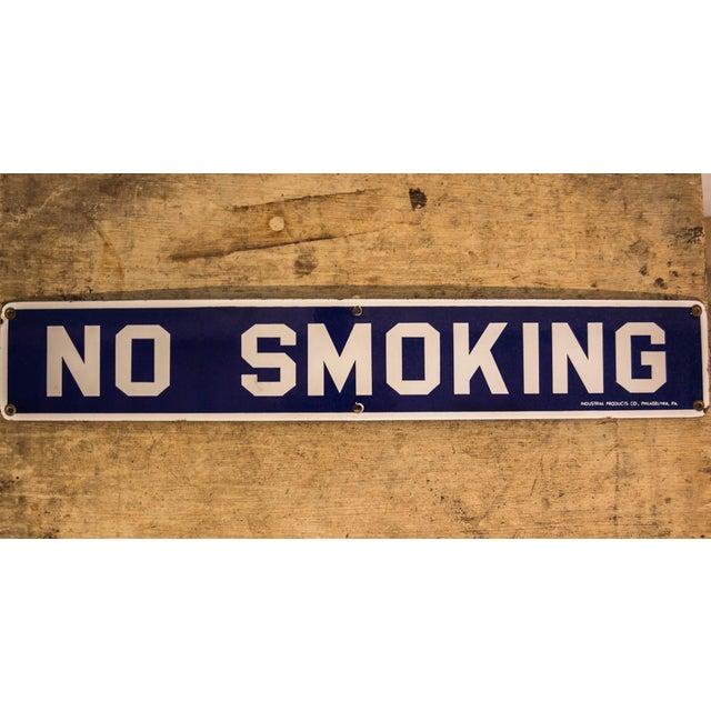 Vintage No Smoking Porcelain Sign - Image 2 of 6