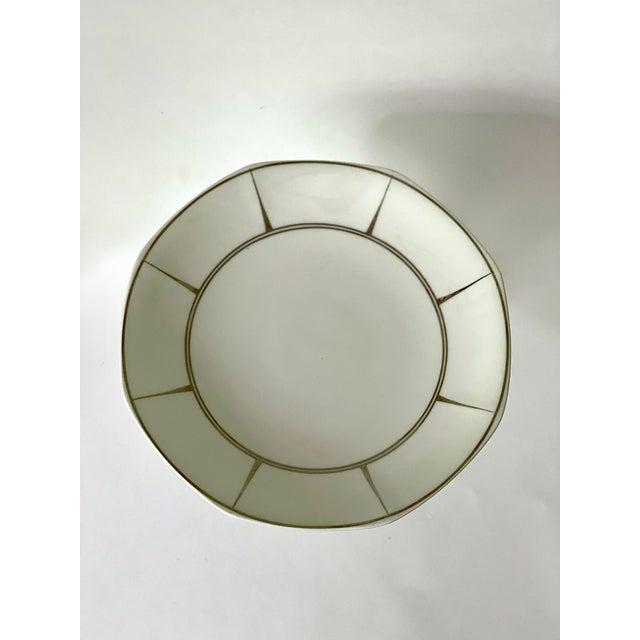 Art Deco Antique Limoges Boisbertrand & Theilloud Art Deco Porcelain Footed Bowl For Sale - Image 3 of 5