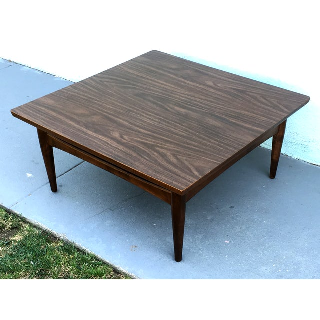 Square Mid-Century Modern Coffee Table - Image 3 of 7