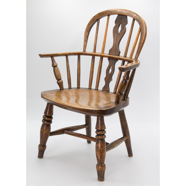 Wood Antique 19th-Century English Windsor Child's Chair For Sale - Image 7 of 7