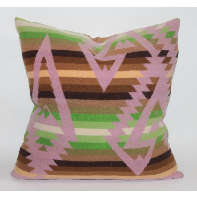 These great pendleton plaid pillow has amazing color with great stripe and camp blanket pattern. This pillow has been...